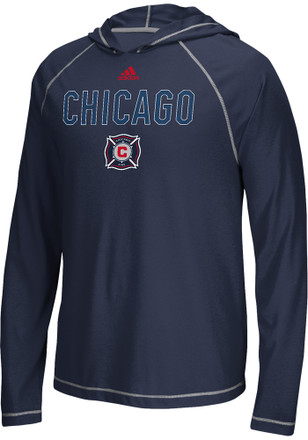Adidas Chicago Fire Mens Navy Blue Base Tee