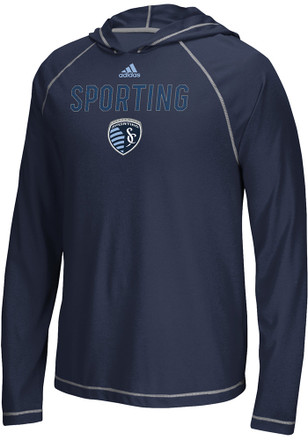 Adidas Sporting Kansas City Mens Navy Blue Base Tee