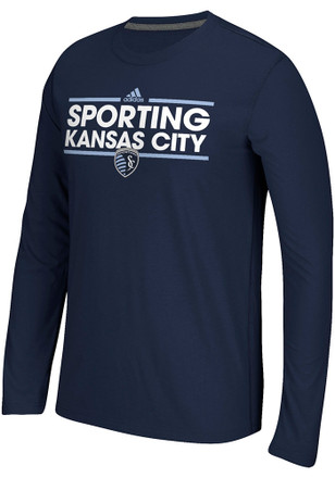 Adidas Sporting Kansas City Mens Navy Blue Dassler Tee