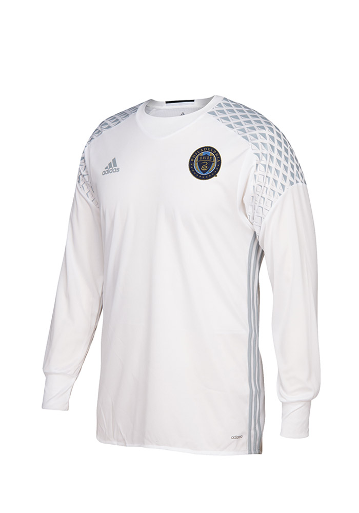 Philadelphia Union Mens Adidas Authentic Soccer screen print Jersey - White - Image 1