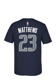 Wesley Matthews Dallas Blue Player Name and Number T-Shirt