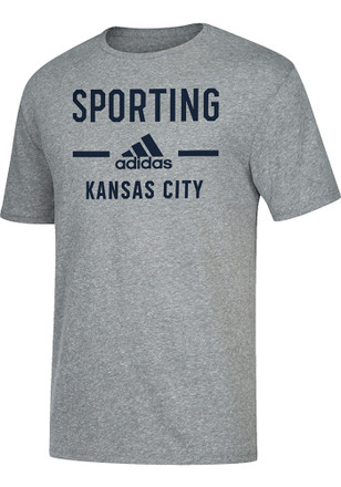 Adidas Sporting Kansas City Mens Grey Simply Put Fashion Tee