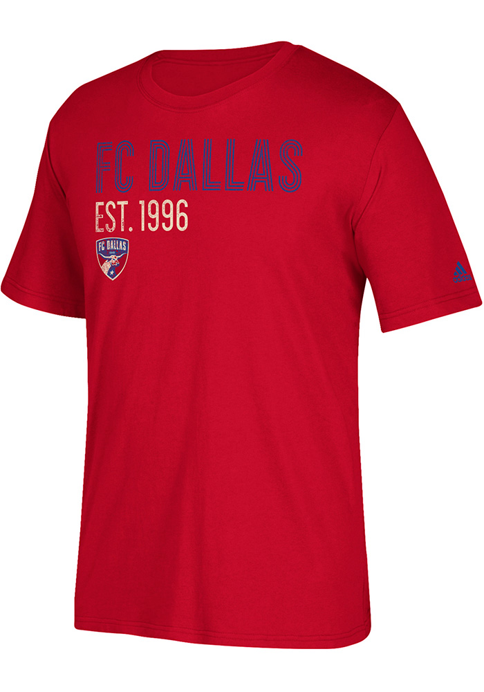 Adidas FC Dallas Red Triline Locale Tee