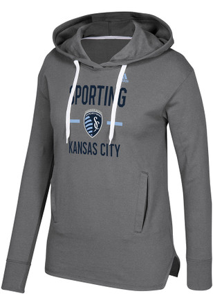 Adidas Sporting Kansas City Womens Grey Simply Put Hoodie