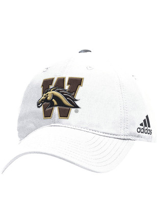 Adidas Western Michigan Broncos Mens White Slouch Adjustable Hat
