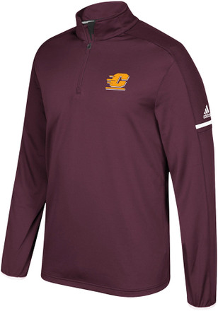 Adidas Central Michigan Chippewas Mens Maroon Sideline 1/4 Zip Pullover
