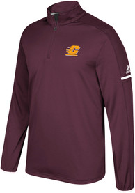 Central Michigan Chippewas Adidas Sideline 1/4 Zip Pullover - Maroon