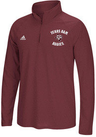 Texas A&M Aggies Adidas Athletic Arches 1/4 Zip Pullover - Maroon
