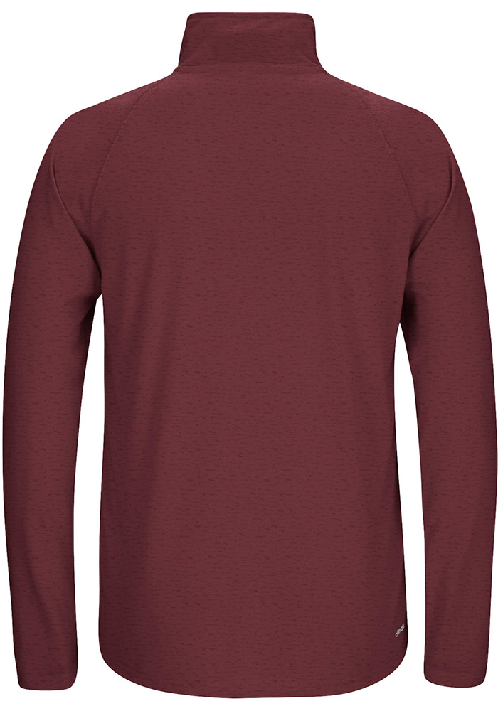Adidas Texas A&M Aggies Mens Maroon Athletic Arches Long Sleeve 1/4 Zip Pullover - Image 2