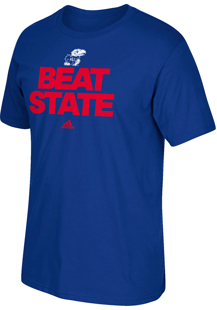 Adidas Kansas Jayhawks Blue Go To Tee