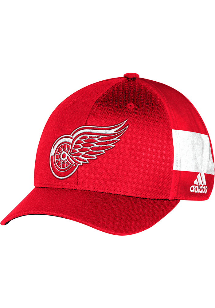 Adidas Detroit Red Wings Mens Red 2017 Draft Flex Hat - Image 1