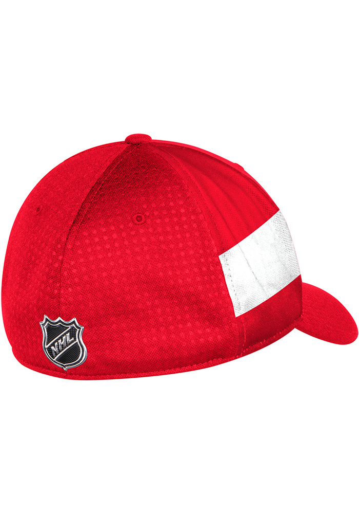 Adidas Detroit Red Wings Mens Red 2017 Draft Flex Hat - Image 2