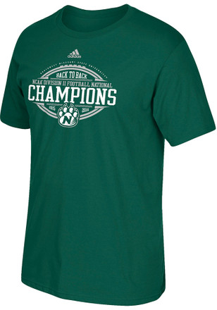 Adidas Northwest Mo State Bearcats Mens Green National Champions Tee