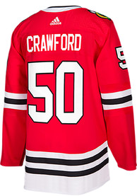 finest selection f4169 290dc Adidas Corey Crawford Chicago Blackhawks Mens Red Authentic Hockey Jersey