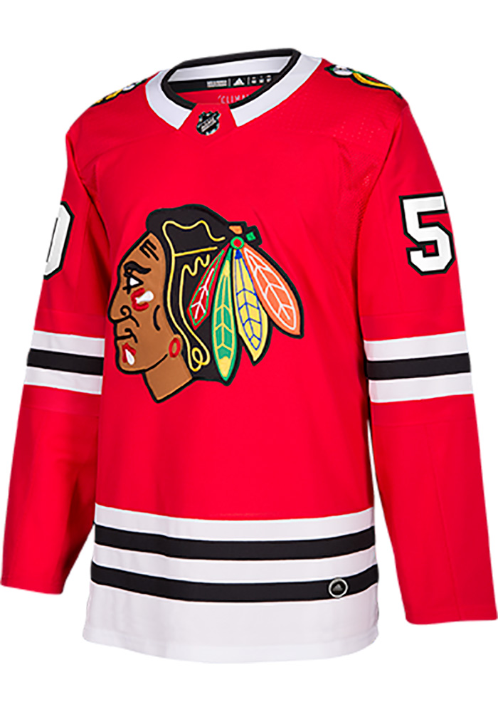 Corey Crawford Chicago Blackhawks Mens Authentic Hockey Authentic Jersey - Red - Image 2