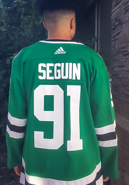 Adidas Tyler Seguin Dallas Stars Mens Green Authentic Hockey Jersey - Image 3