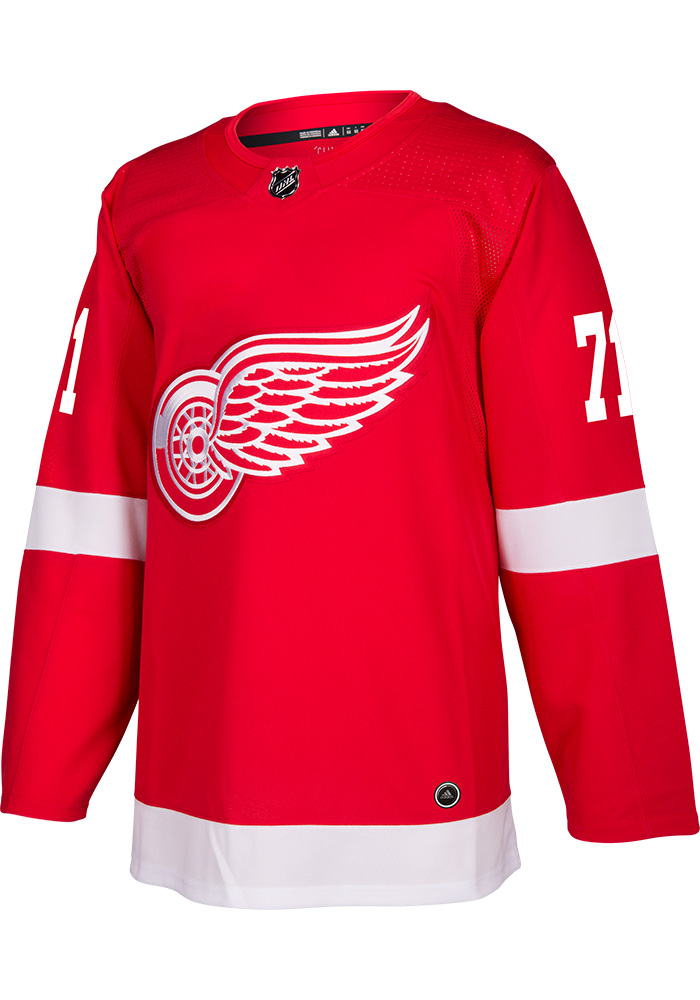 Adidas Dylan Larkin Detroit Red Wings Mens Red Authentic Hockey Jersey - Image 2