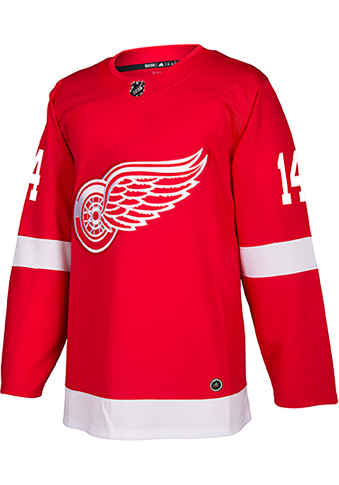 Adidas Gustav Nyquist Detroit Red Wings Mens Red Authentic Hockey Jersey - Image 2