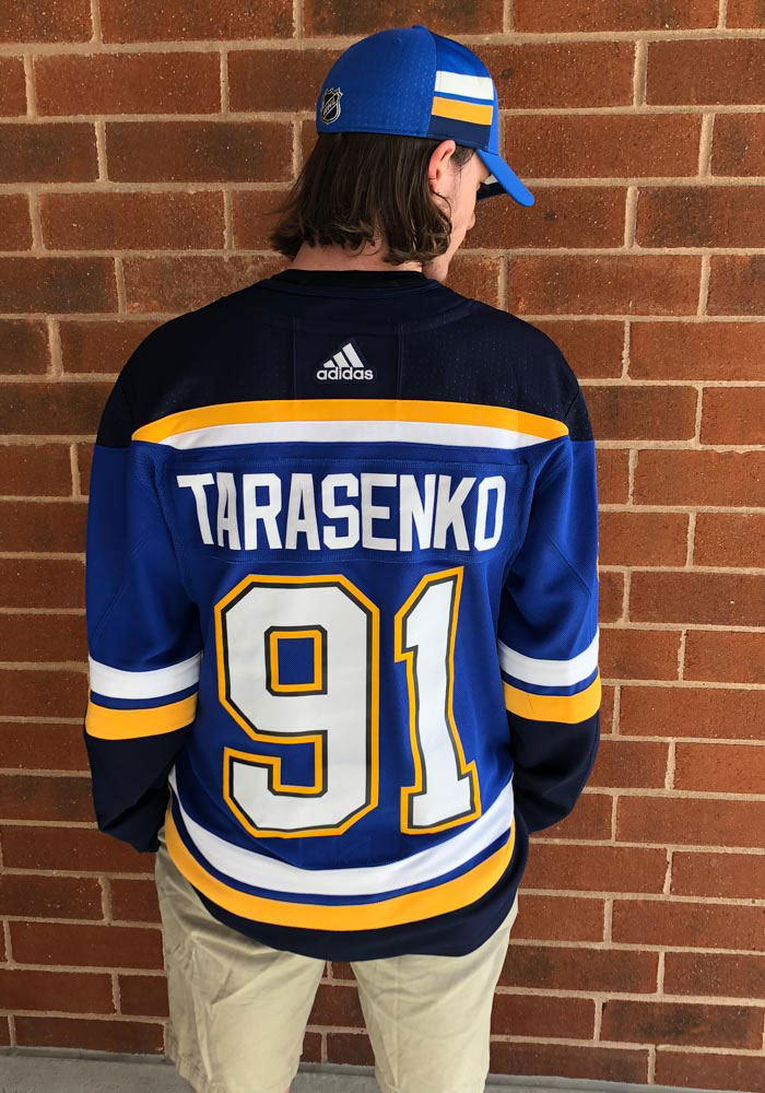 huge selection of e42fd e675a Adidas Vladimir Tarasenko St Louis Blues Mens Blue Authentic Hockey Jersey