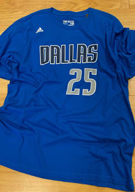 Chandler Parsons Dallas Mavericks Blue screen print Player Tee