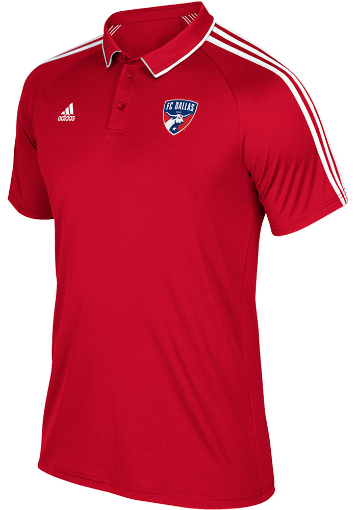 Adidas FC Dallas Mens Red Coaches Short Sleeve Polo - Image 1