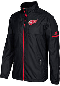 Detroit Red Wings Adidas Authentic Rink Zip - Black
