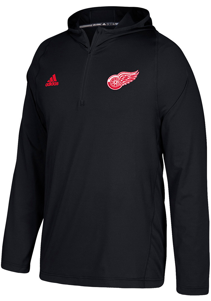Adidas Detroit Red Wings Mens Black Authentic Hood - Image 1