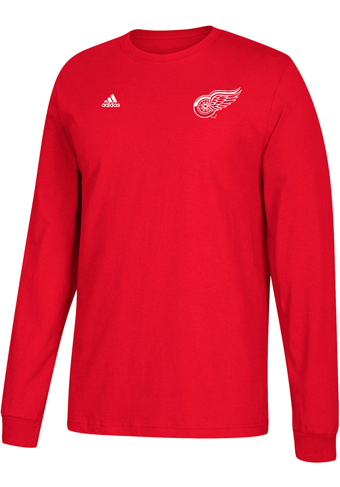 Adidas Detroit Red Wings Red Training Long Sleeve T Shirt - Image 1