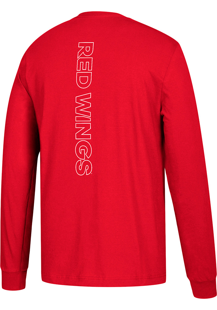 Adidas Detroit Red Wings Red Training Long Sleeve T Shirt - Image 2