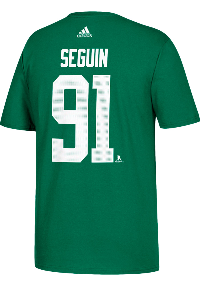 Tyler Seguin Dallas Stars Green Name and Number Short Sleeve Player T Shirt  - Image 2 df8e6fae7
