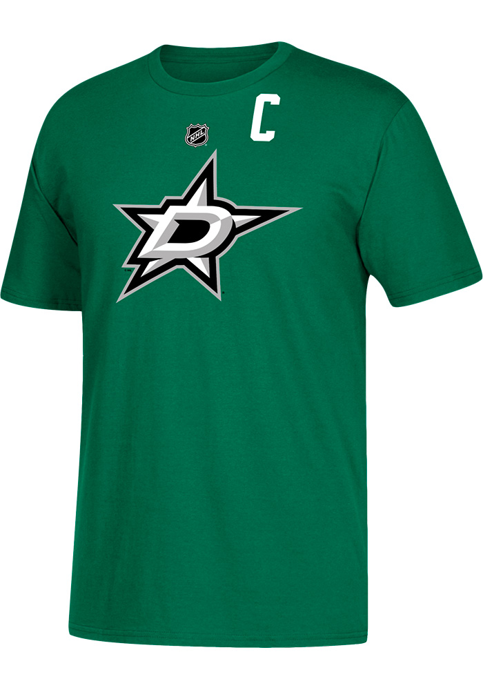 Jamie Benn Dallas Stars Green Name and Number Short Sleeve Player T Shirt - Image 2
