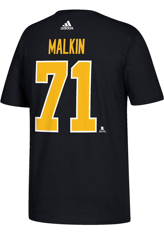 Evgeni Malkin Pittsburgh Penguins Mens Black Name and Number Short Sleeve Player T Shirt, Black, 100% COTTON, Size S