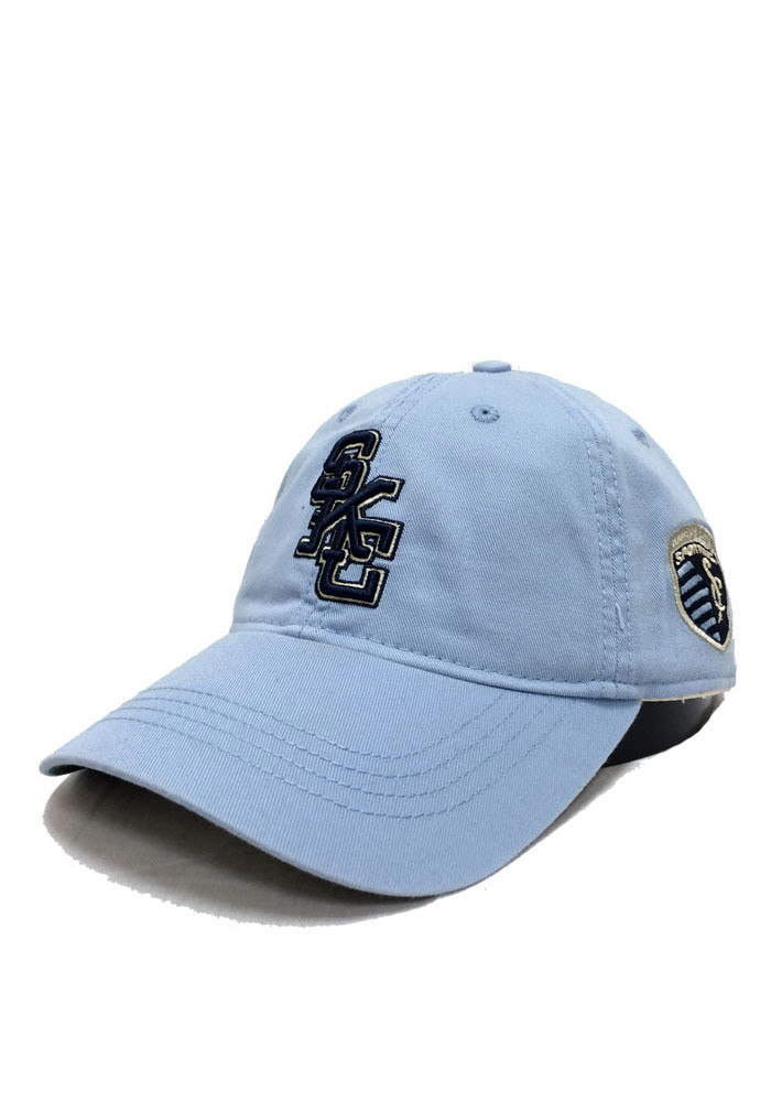 Adidas Sporting Kansas City Mens Light Blue Slouch Adjustable Hat - Image 1