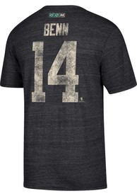 Jamie Benn Dallas Stars Grey Name and Number Fashion Player Tee