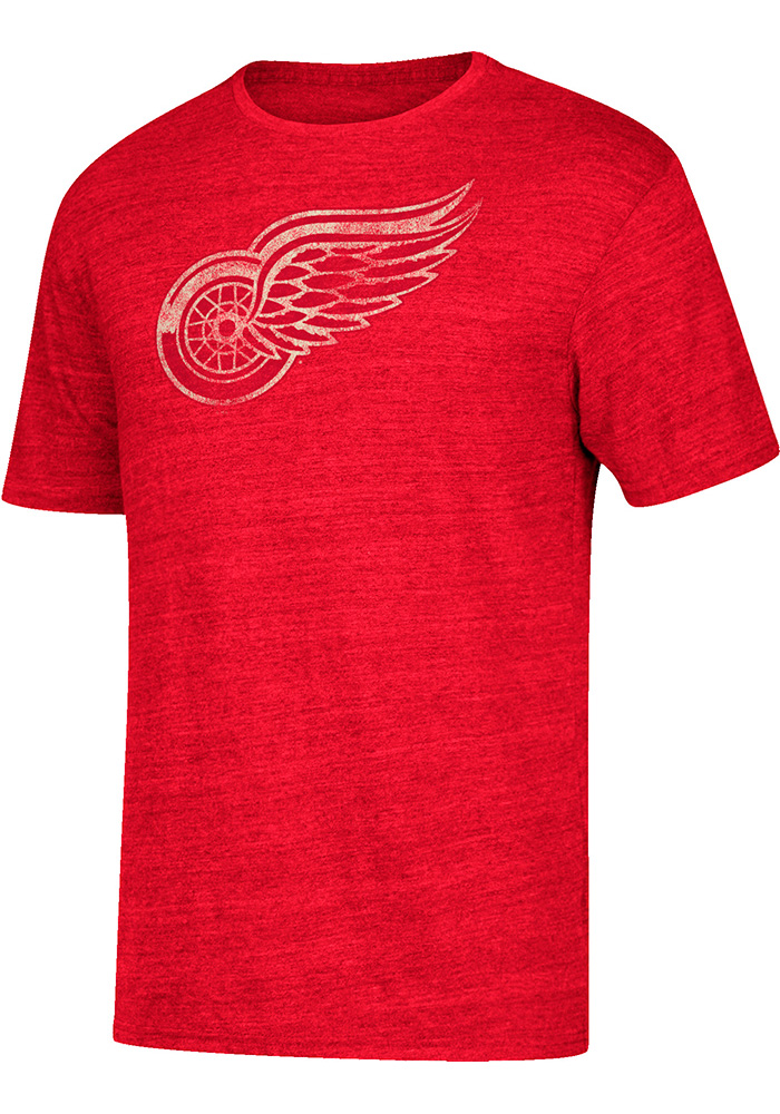Dylan Larkin Detroit Red Wings Red Name and Number Short Sleeve Fashion Player T Shirt - Image 2