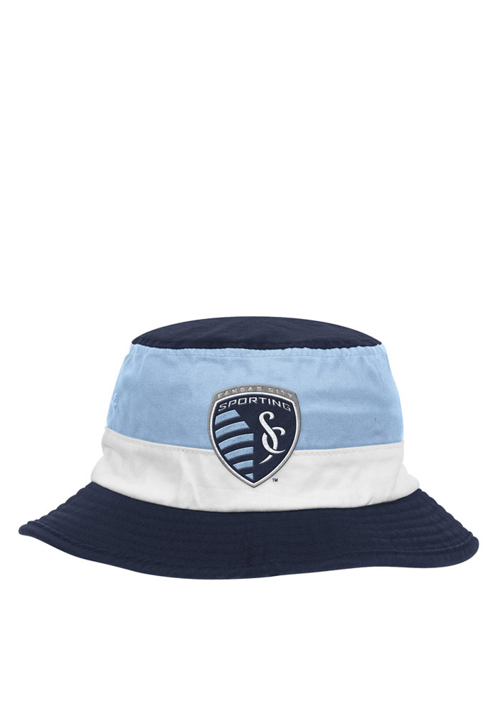 Adidas Sporting Kansas City Mens Navy Blue 2016 Performance Flex Hat - Image 1