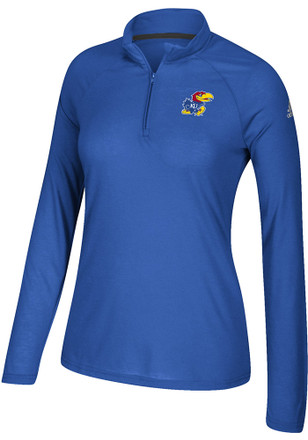 Adidas Kansas Jayhawks Womens Ultimate Blue 1/4 Zip Pullover