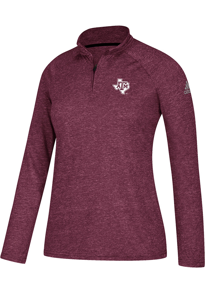 Adidas Texas A&M Womens Maroon Ultimate 1/4 Zip Pullover - Image 1