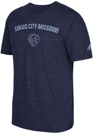 Adidas Sporting Kansas City Mens Blue City Worn Fashion Tee