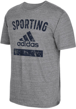Adidas Sporting Kansas City Mens Grey Equipment Fashion Tee