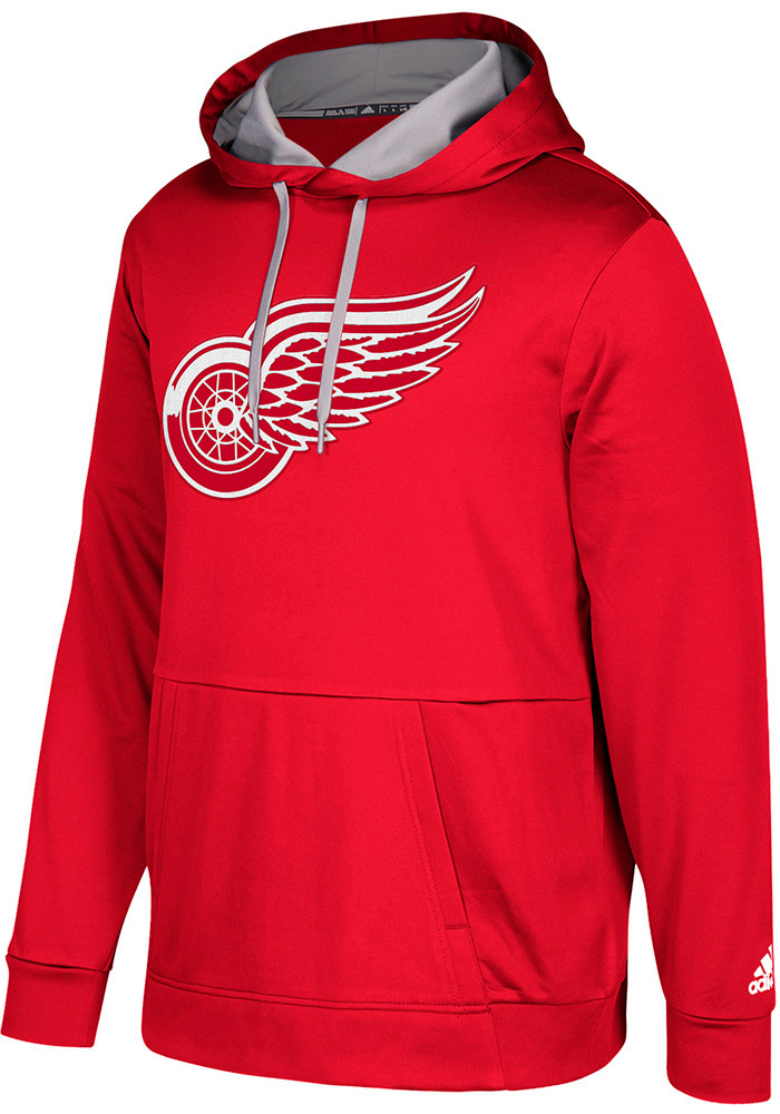 Adidas Detroit Red Wings Mens Red Pullover Hood - Image 1