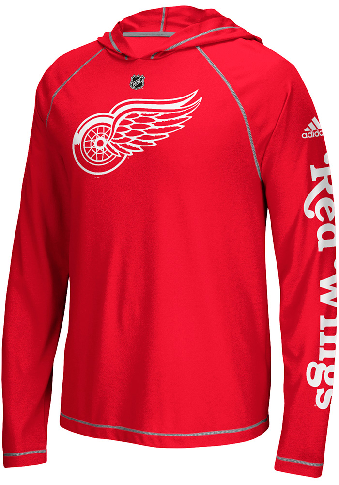 Adidas Detroit Red Wings Mens Red Journeyman Hood - Image 1