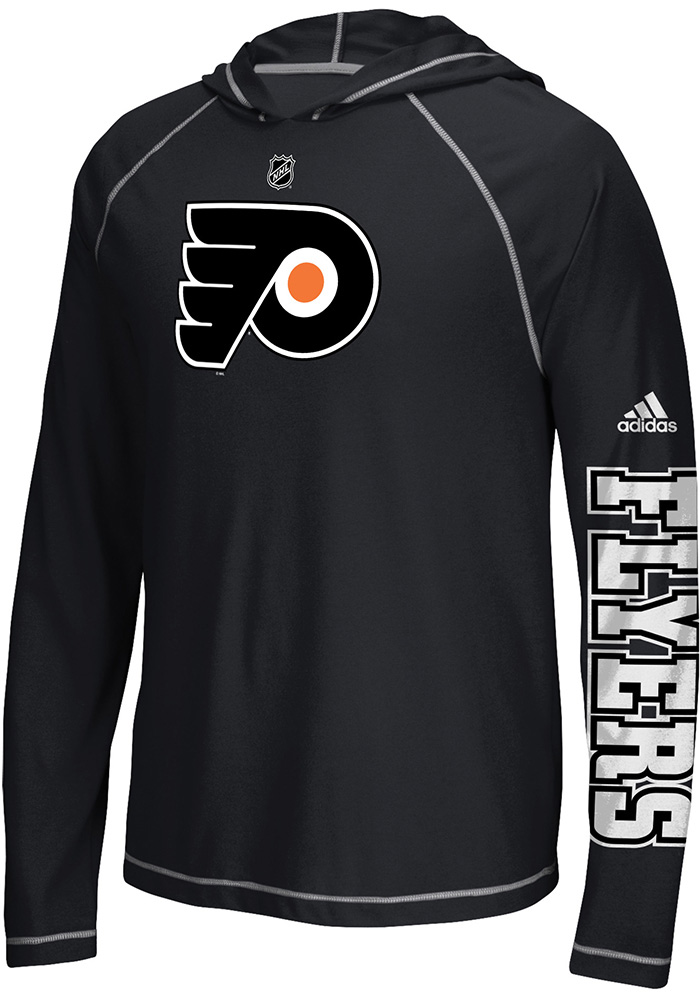 Adidas Philadelphia Flyers Mens Black Journeyman Hood, Black, 100% POLYESTER, Size S