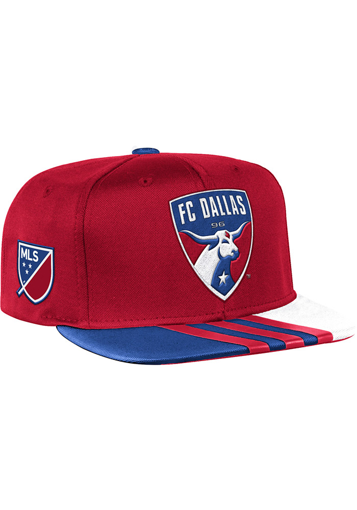 Adidas FC Dallas Red 2017 Authentic Team Mens Snapback Hat - Image 1