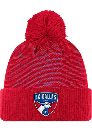 Adidas FC Dallas Red 2017 Authentic Team Knit Hat