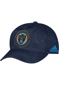 Philadelphia Union Adidas Tonal Camo Adjustable Hat - Navy Blue