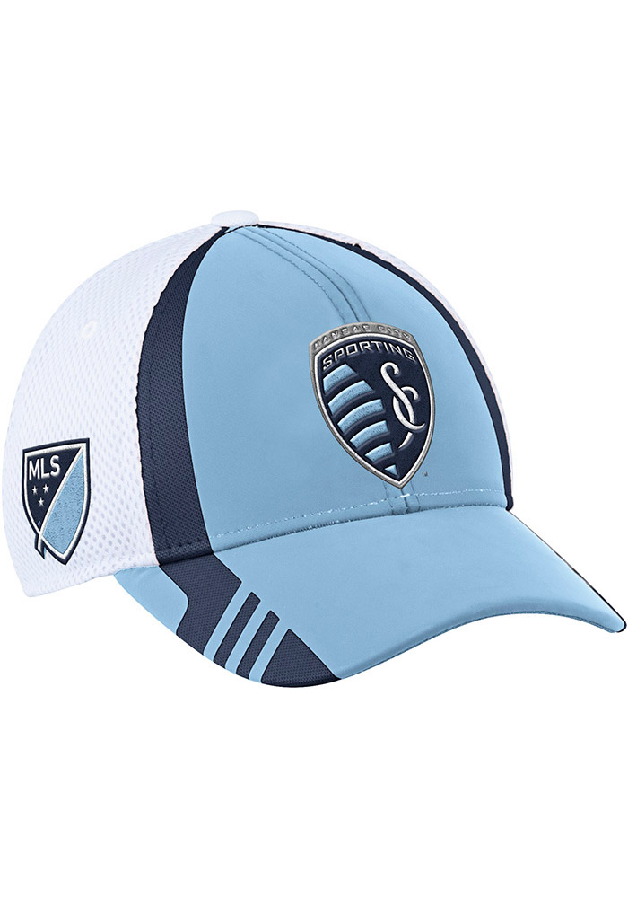Sporting Kansas City Adidas 2017 Authentic Team Flex Hat - Light Blue
