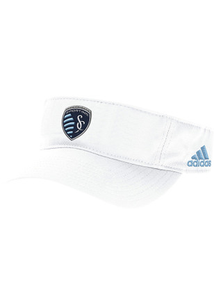 Adidas Sporting Kansas City Mens White Perf Adjustable Visor