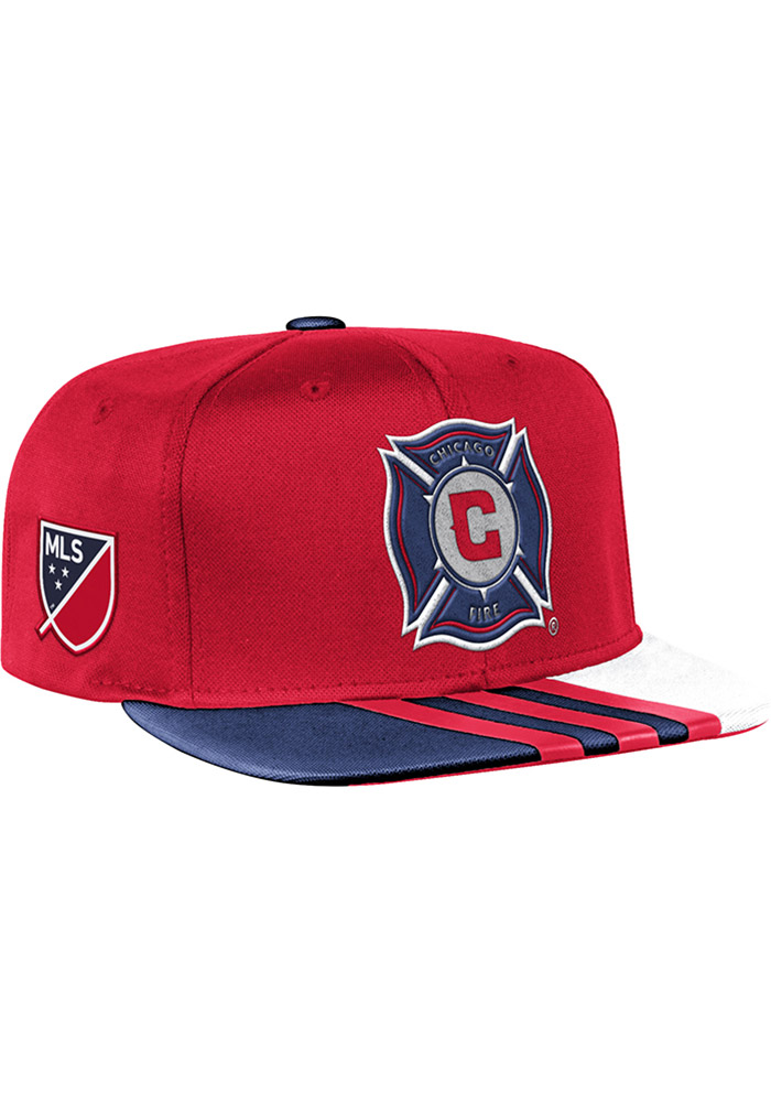 Adidas Chicago Fire Red 2017 Authentic Team Mens Snapback Hat - Image 1
