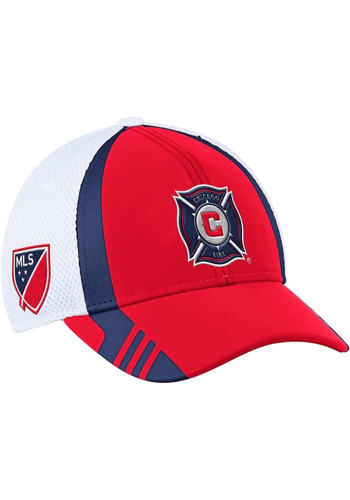 Adidas Chicago Fire Mens Red 2017 Authentic Team Flex Hat - Image 1